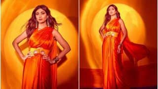 Shilpa Shetty Kundra Gives a Modern Twist to Ethnic Fashion in a Double Pallu Saree Worth Rs 24,500
