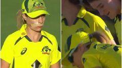 Australia Women vs India Women, 3rd ODI: खून से लथपथ हुईं Sophie Molineux, मुंह पर पट्टी बंधवाकर वापस मैदान पर उतरीं, फैंस ने की तारीफ