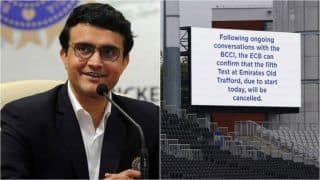IND vs ENG: Sourav Ganguly Wants Rescheduled Manchester Test to be 'Fifth of Series' And Not One Off