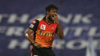 T Natarajan Tested Covid-19 Positive: टी नटराजन को हुआ कोरोना, आज दिल्ली के खिलाफ होना है हैदराबाद का मैच