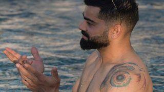'Lemme Study, HOTTIE' - Fans Drool Over Virat Kohli's Toned Body in Pool Pic