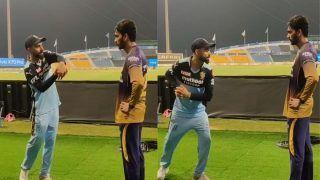Virat Kohli Passes Batting Tips to Venkatesh Iyer After KKR Beat RCB in IPL 2021 UAE Leg | WATCH VIDEO