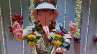 Ganapati Bappa In IPS Avatar: Mumbai Police Portrays Lord Ganesha As Police Officer, Call Him 'India's Premier Security'