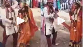Viral Video: Happy Bride & Groom Dance Merrily on The Road After Their Wedding   Watch