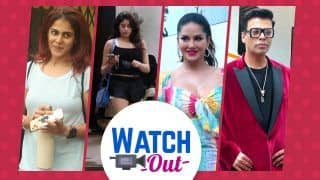 OMG! Sunny Leone Looks Adorable in Multi Coloured One Piece Outside Bigg Boss OTT Sets : Watch Out