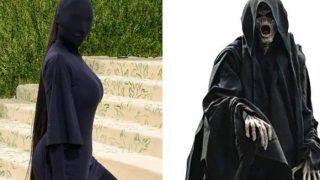 Kim Kardashian की इन तस्वीरों ने मचाया तहलका, ट्रोल कर लोग बोलें- भूत... काला कौआ...