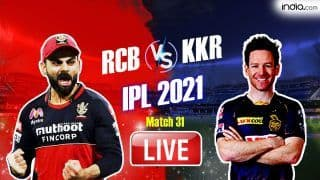 Live KKR vs RCB Score and Updates IPL 2021, Match 31: KKR Hoping For a Turnaround vs RCB
