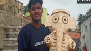 Ganesh Chaturthi 2021: Odisha Artist Creates Ganpati Idol With Over 5000 Matchsticks
