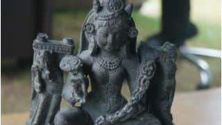 1,200-Year-Old Ancient Sculpture of Goddess Durga Recovered in J&K's Budgam
