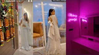Nia Sharma Moves to New Beautiful White House After Griha Pravesh Puja – See Pics of Decor And Beautiful Skyline