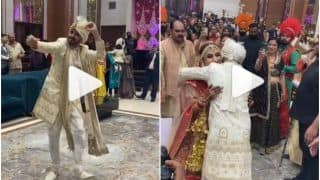 Viral Video: Groom Breaks Into Bhangra Dance to Welcome The Bride, Adorable Reaction Wins Hearts   Watch