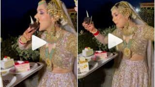 Viral Video: Foodie Bride Gorges on Pastry While Dancing on Her Wedding Day | Watch