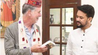Anurag Thakur Meets Netflix CEO Reed Hastings, Gifts Him Bhagavad Gita | See Pics