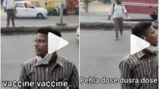 'Chalo Bhai Vaccine Vaccine': Man Promotes Covid Vaccination at Bus Stop in Hilarious Way, Leaves Internet in Splits | Watch