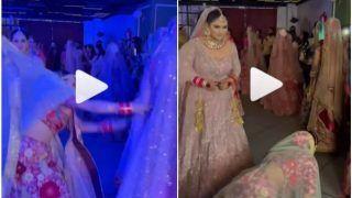 Viral Video: Model Wearing Bridal Lehenga Trips & Falls During Fashion Show, What Happens Next | Watch