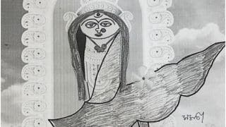 Mamata Banerjee's Sketch of 'Ma Durga' to Now Feature in Invitation Cards & Booklets of Kolkata Police