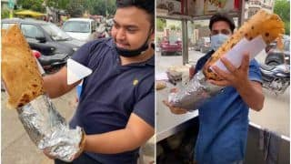 Attention, Foodies! You Can Win Rs 20,000 If You Finish This 10 Kg Kathi Roll in 20 Mins   Watch