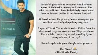 Sidharth Shukla's Family Releases Official Statment After his Demise: 'He Valued His Privacy'