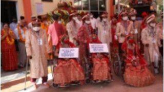 सामूहिक विवाह समारोह में शादी के बंधन में बंधें 21 जोड़े, 'दहेज को ना' का लिया संकल्प