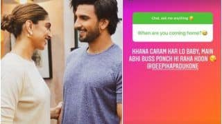 Deepika Padukone Crashes In Hubby Ranveer Singh's Chat With Fans, Asks 'When are you coming home?'