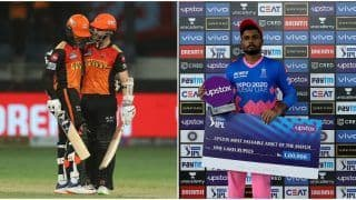 IPL 2021 Points Table Today Latest After SRH vs RR, Match 40: CSK Remain at No.1 Spot, Rajasthan Royals' Sanju Samson Replaces Shikhar Dhawan in Orange Cap Bragging Rights