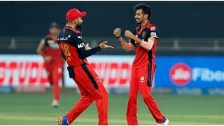 IPL 2021: Virat Kohli Praises Yuzvendra Chahal Despite Loss vs SRH, Says 'He is Bowling Pretty Well'