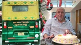 'The Alchemist' Author Paulo Coelho Thanks India for Viral Photo of Kerala Autorickshaw With His Name Written On It