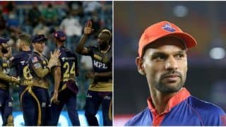 IPL 2021 Points Table Today Latest After KKR vs RCB, Match 31: KKR Beat RCB to Claim 5th Position; Shikhar Dhawan, Harshal Patel Still in Lead in IPL Orange Cap, Purple Cap List