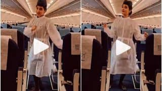 Viral Video: IndiGo Air Hostess Dances to Manike Mage Hithe on Empty Flight, People Love It | Watch