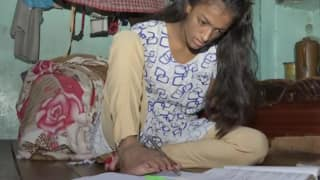 14-Year-Old Specially-Abled Girl Learns to Write With Her Toes, Wants to Become a Teacher