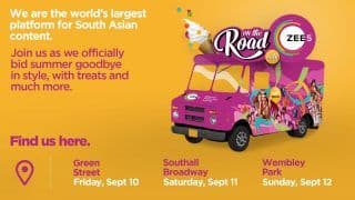 ZEE5 Global's On The Road Campaign to Serve up Ice Cream And South Asian Entertainment in London