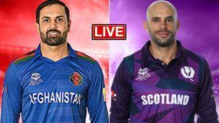 AFG vs SCO Live Score: अफगानिस्तान की टीम ने टॉस जीतकर चुनी बल्लेबाजी
