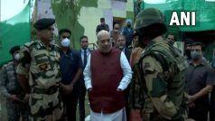 गृह मंत्री अमित शाह जम्मू में बॉर्डर की अग्रिम पोस्ट पर पहुंचे, BSF जवानों का बढ़ाया उत्साह
