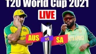 AUS vs SA MATCH HIGHLIGHTS T20 World Cup 2021 Super 12, Match 13 Cricket Updates: Matthew Wade and Marcus Stoinis Guide Australia to a 5-Wicket Victory