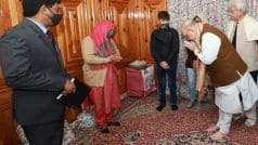 Amit Shah in J&K Day 1: HM Meets Family of Slain Cop Parvez Ahmed Dar, Offers Govt Job to His Wife | Updates