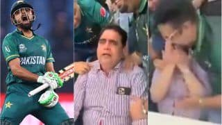 Babar Azam's Father Breaks Into Tears After Pakistan Beat India in T20 World Cup 2021 Match in Dubai | VIDEO Goes Viral