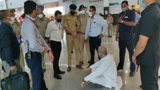 Bhupesh Baghel Stages Protest After Being Stopped at Lucknow Airport, Says No Intention to Visit Lakhimpur