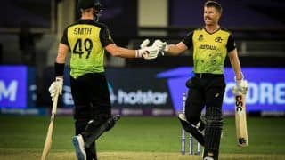 AUS vs SL T20 Scorecard, T20 World Cup 2021 Today Match Report: David Warner, Bowlers Shine as Australia Crush Sri Lanka by 7 wickets in Super 12 Battle