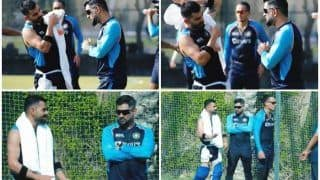 T20 WC: MS Dhoni Passes Batting Tips to Virat Kohli Ahead of India vs Pakistan; Video Goes Viral | WATCH