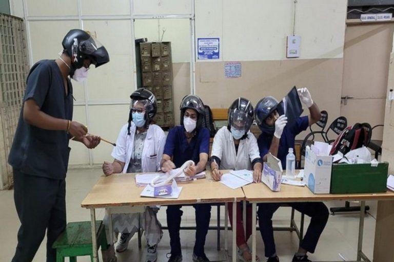 Hyderabad Doctors Wear Helmet On Duty to Protest After Ceiling Fan Falls on Colleague