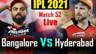 IPL 2021 MATCH HIGHLIGHTS TODAY, RCB vs SRH Match 52 Cricket Updates: Bowlers Shine as SunRisers Hyderabad Beat Royal Challengers Bangalore by 4 Runs to Clinch Thriller in Abu Dhabi
