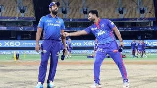 Live MI vs DC Score and Updates IPL 2021, Match 46: MI Looking For a Win to Keep Play-Off Hopes Alive