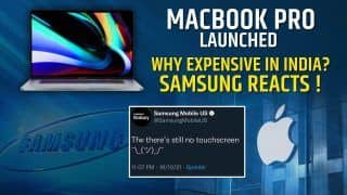 Apple 'Unleashed' Event 2021 : MacBook Pro And Airpods 3 Launched, Here's How Samsung Reacted   Watch Video