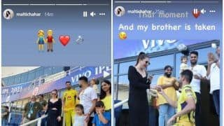 IPL 2021:M Deepak Chahar's Sister Malti Reacts After CSK Pacer Proposes Girlfriend in Dubai