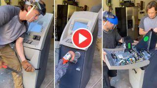 ATM Ka Video: कबाड़ा समझ खरीद लिया था पुराना एटीएम, पर अंदर कैश देखा तो उड़ गए होश | Viral हो रहा ये Video