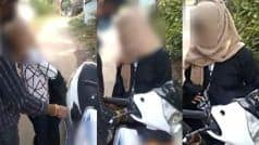 भोपाल में सरेआम लड़की से बुर्का उतरवाया, सोशल मीडिया पर Viral  हुआ Video