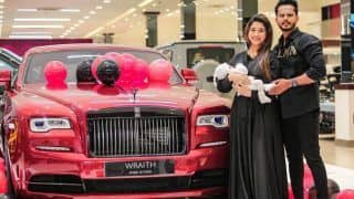 Husband Surprises Wife With Her Dream Car, Gifts Rs 3 Crore Rolls Royce on Her Birthday   Watch