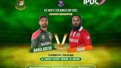 T20 World Cup 2021, OMA vs BAN LIVE SCORE: बांग्लादेश और ओमान के बीच मुकाबल लाइव स्कोर
