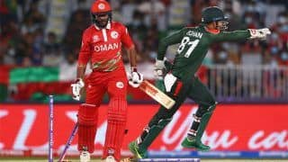 T20 World Cup 2021: बांग्लादेश ने ओमान को हराकर सुपर 12 में पहुंचने की उम्मीदें रखीं बरकरार
