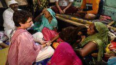 आगरा में मृत सफाई कर्मचारी अरुण वाल्मीकि के परिवार से मिलीं प्रियंका गांधी, प्रशासन 10 लाख रुपए और एक सदस्य को नौकरी देगा